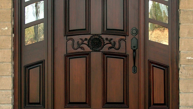 clean wooden doors