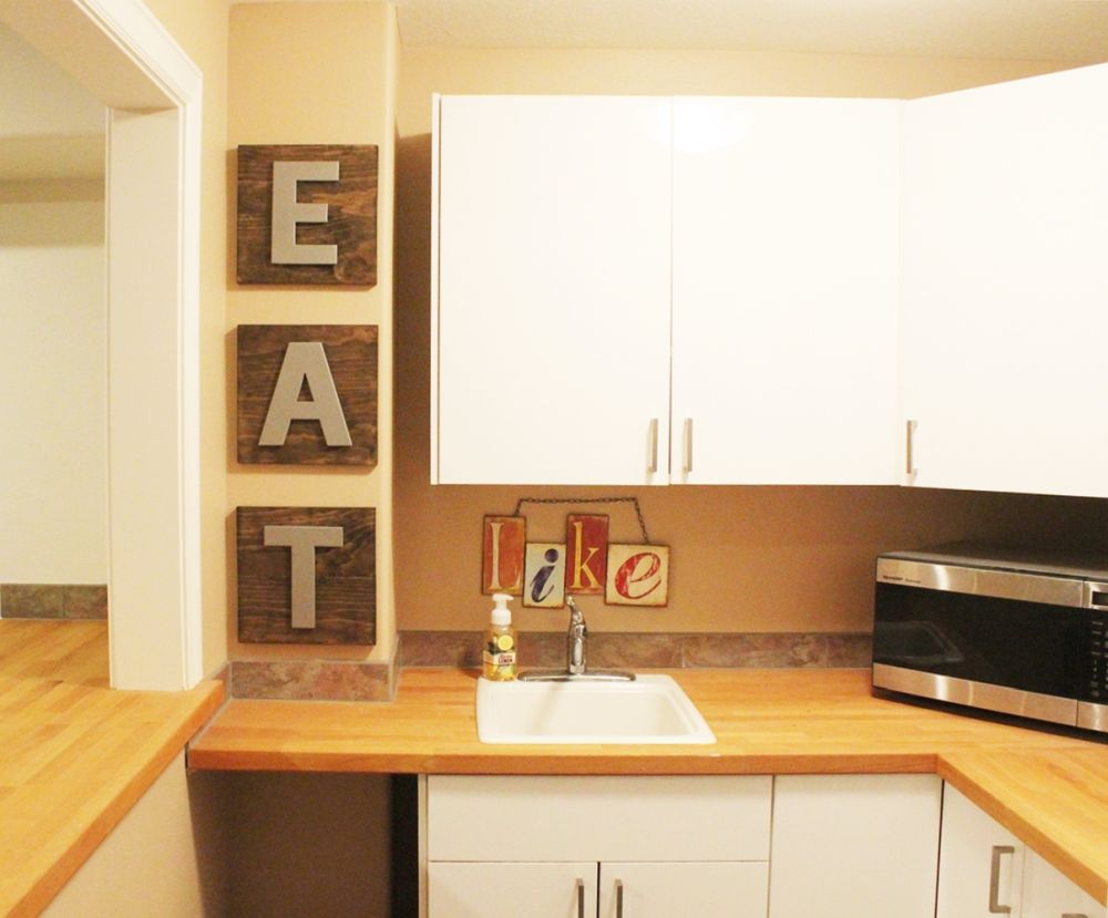 decorate kitchen with letters